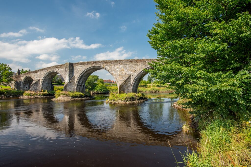 Stirling Old Town Bridge during the summer.